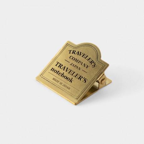 TRAVELER'S notebook Refill - Brass Clip TRC Logo 030