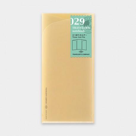 TRAVELER'S notebook Refill - Three-fold File 029