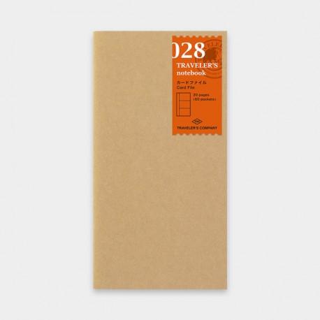 TRAVELER'S notebook Refill - Card File 028