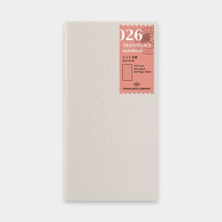 TRAVELER'S notebook Refill - Dot Grid 026