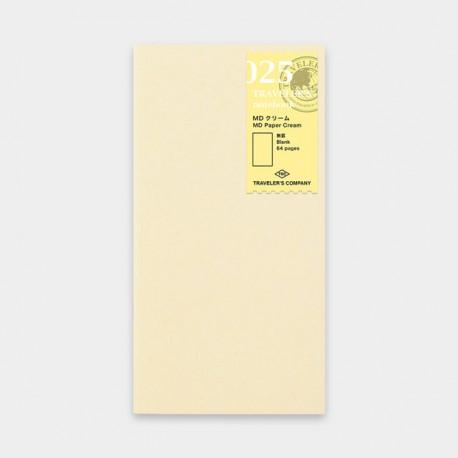 TRAVELER'S notebook Refill - MD Paper Cream 025