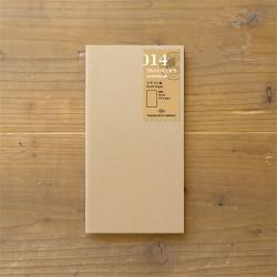TRAVELER'S notebook Refill - Kraft Paper Notebook 014