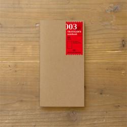 TRAVELER'S notebook Refill - Blank notebook 003