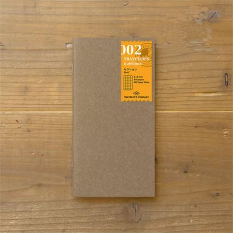 TRAVELER'S notebook Refill - Grid notebook 002