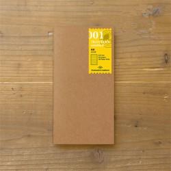 TRAVELER'S notebook Refill - Lined notebook 001