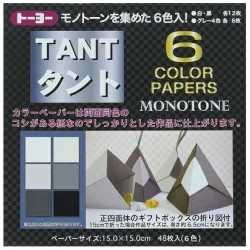 TANT 12 color papers Monotone 150mm