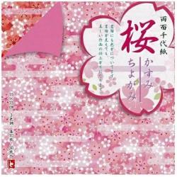 Chiyogami double face 150mm - Sakura -