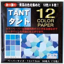 TANT 12 color papers 75mm - Bleu -