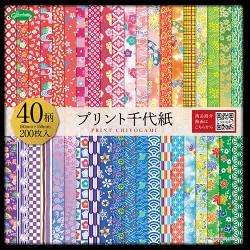 Papier Origami 40 motifs traditionnels