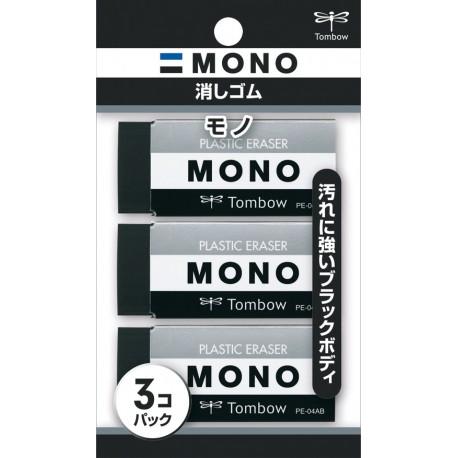 Gomme MONO Black Pack de 3