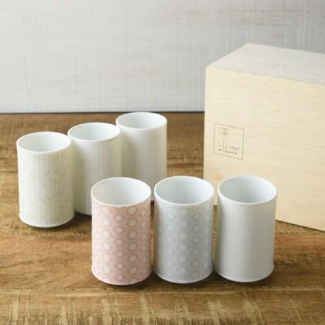 Set de 6 bols à Sakè MIYAMA
