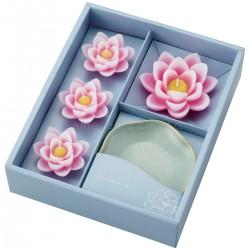Coffret bougies - fleurs de lotus -