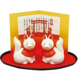 Inari porte bonheur en céramique