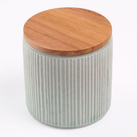 Pot de conservation en porcelaine Minô - Gris -