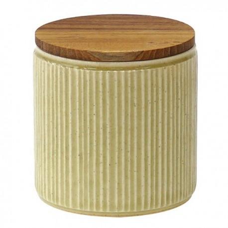 Pot de conservation en porcelaine Minô - Jaune -