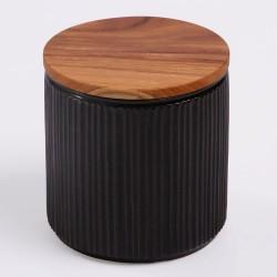 Pot de conservation en porcelaine Minô - Noir -