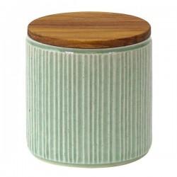 Pot de conservation en porcelaine Minô - Vert -