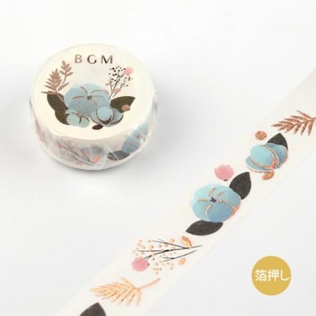 Masking Tape BGM - Blue Flower -