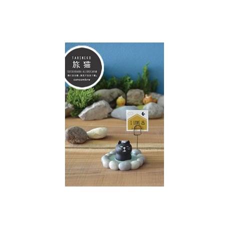 Porte-carte - Chat noir dans un Onsen -
