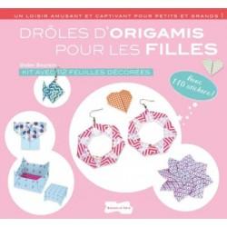 Drôles d'origamis pour les filles - Kit avec 112 feuilles décorées, avec 110 stickers !