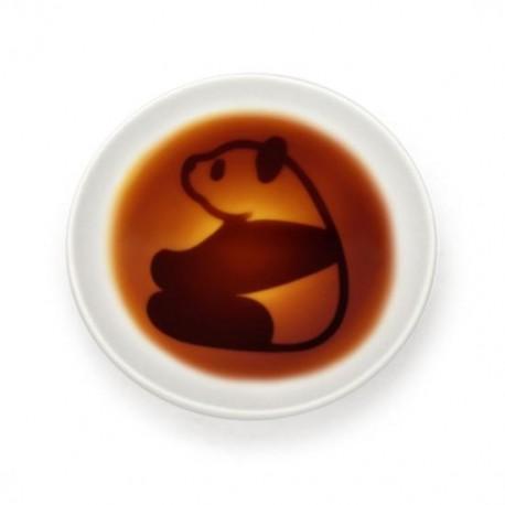 Assiette sauce soja - Panda assis