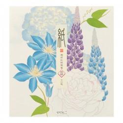 Papier à Lettres, fleurs d'été - 4 motifs -