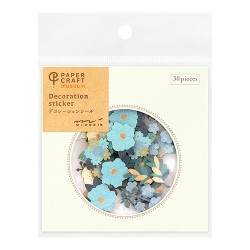 Decoration sticker - Fleur Bleu-