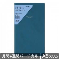 Agenda Midori 2021 - PRD-8 Slim - bleu