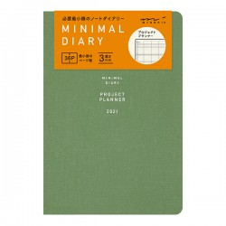 Midori Agenda 2021 - Minimal Diary - Bleu-vert