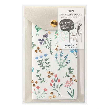 Midori Agenda 2021 - Flower - A6 slim